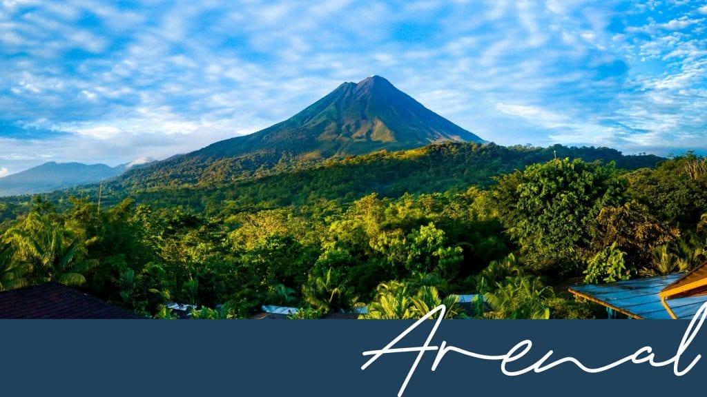 Arenal mountain region in Costa Rica