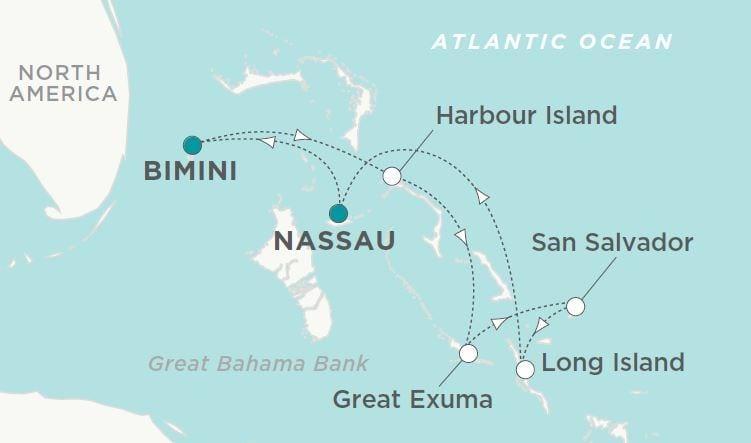 Crystal Bahamas Map