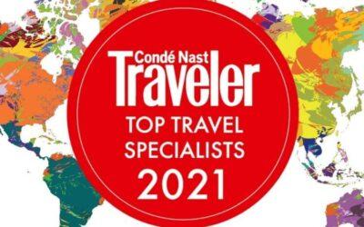 Conde Nast Traveler Top Travel Specialists 2021