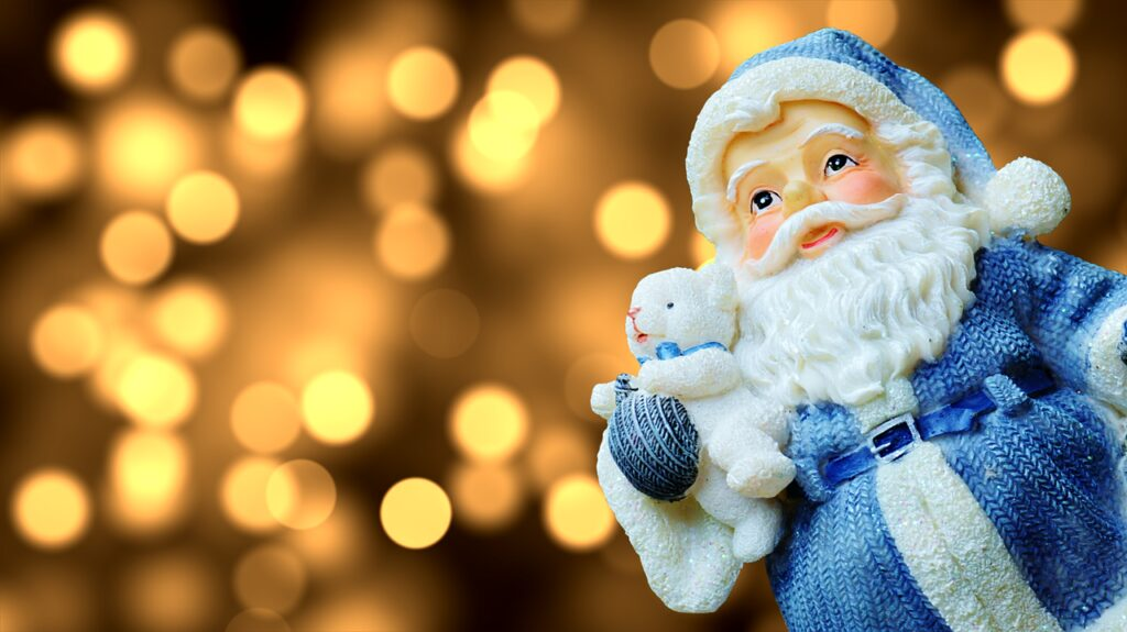 christmas, santa claus, figure