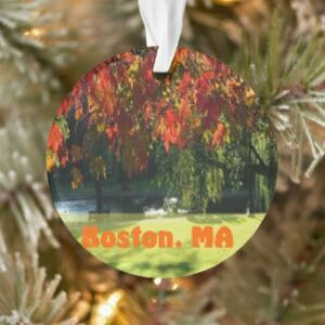 Christmas ornaments of Boston