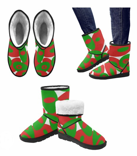 Red, Green and White Orbs leggings and matching boots