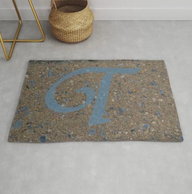 photo-graphic art designed area rug