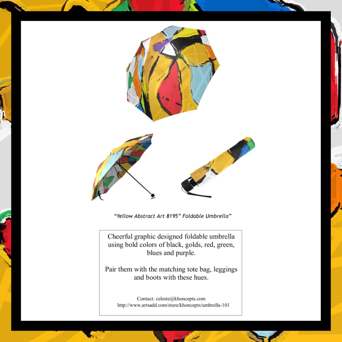 colorful customized folding umbrella design