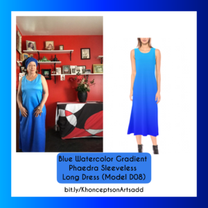 Blue Gradient Maxi Dress