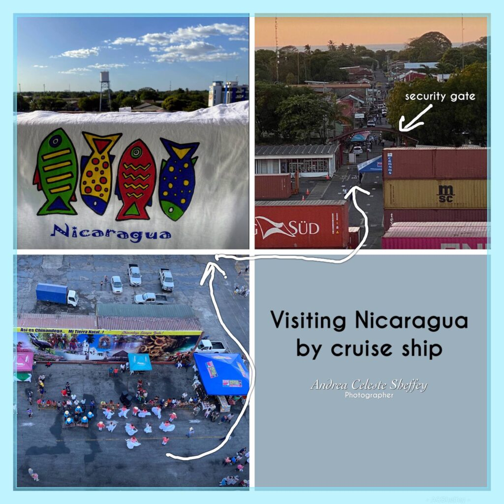 stepping off cruise ship in Nicaragua