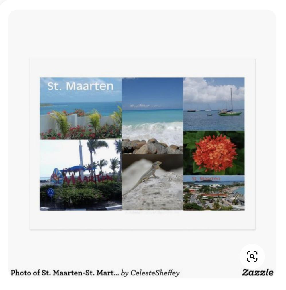 Travel postcard of Sint Maarten