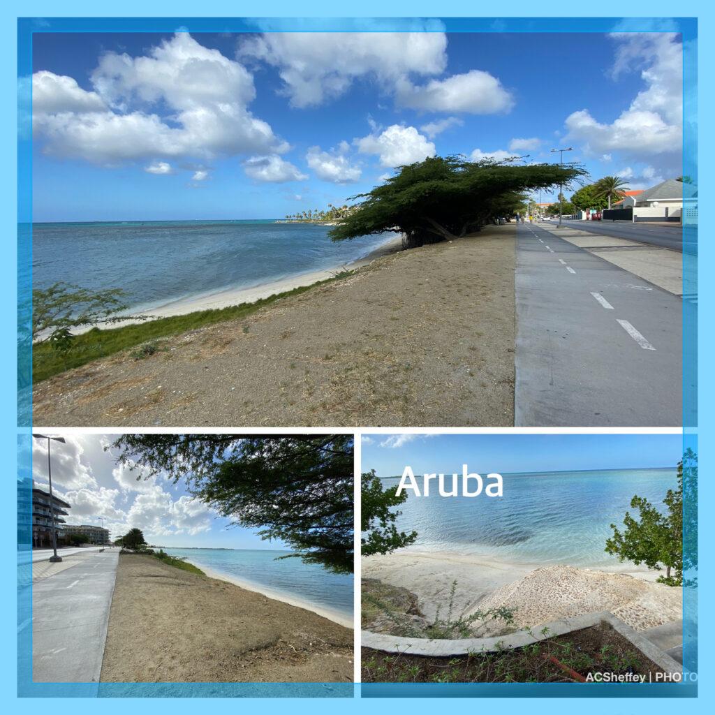 Beaches near downtown Oranjestad, Aruba