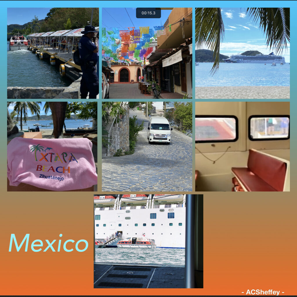 walking around town in Zihuatanejo, Mexico