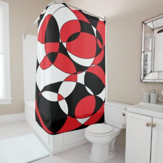 This image has an empty alt attribute; its file name is Black-White-and-Red-Ellipticals-shower-curtain-1.jpg