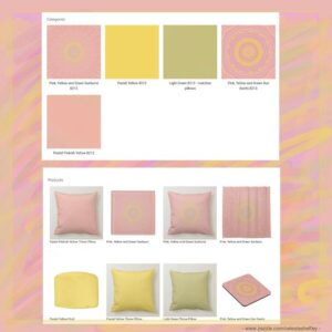 Pastel shades of pink, yellow and green designed home decor