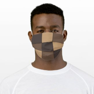 Brown Checkered face mask