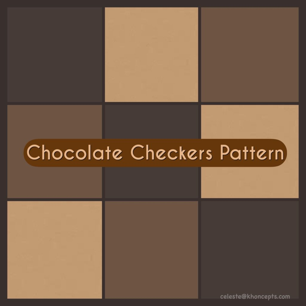 Luscious shades of chocolate brown patterns and prints