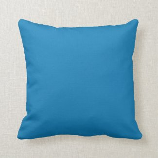 Classic blue throw pillow