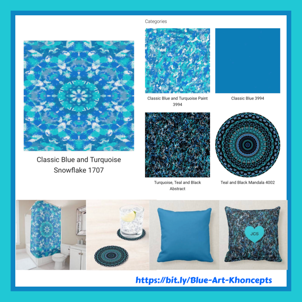 Blue and Turquoise home decor