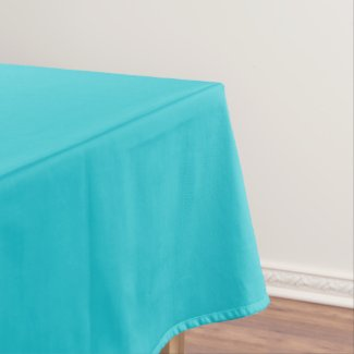 Turquoise table cloth