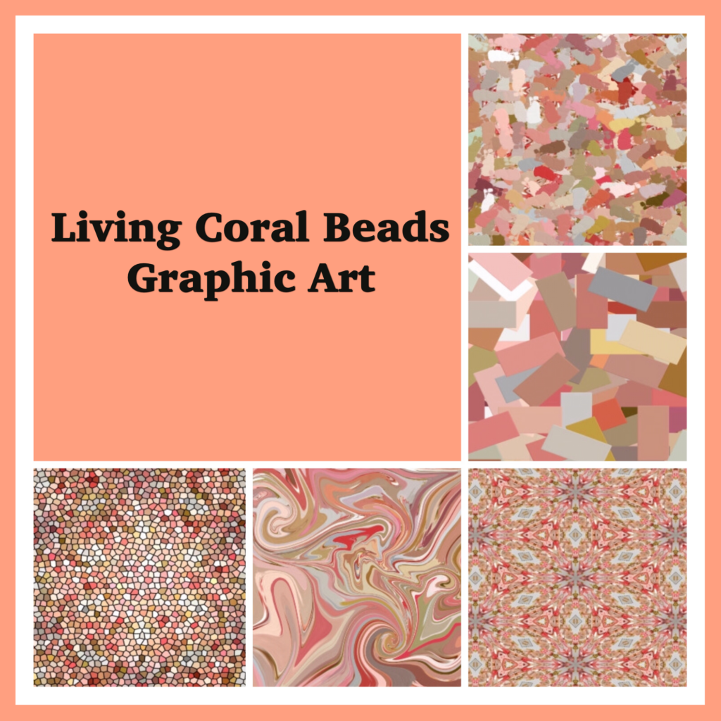 Living coral beads graphic art designs