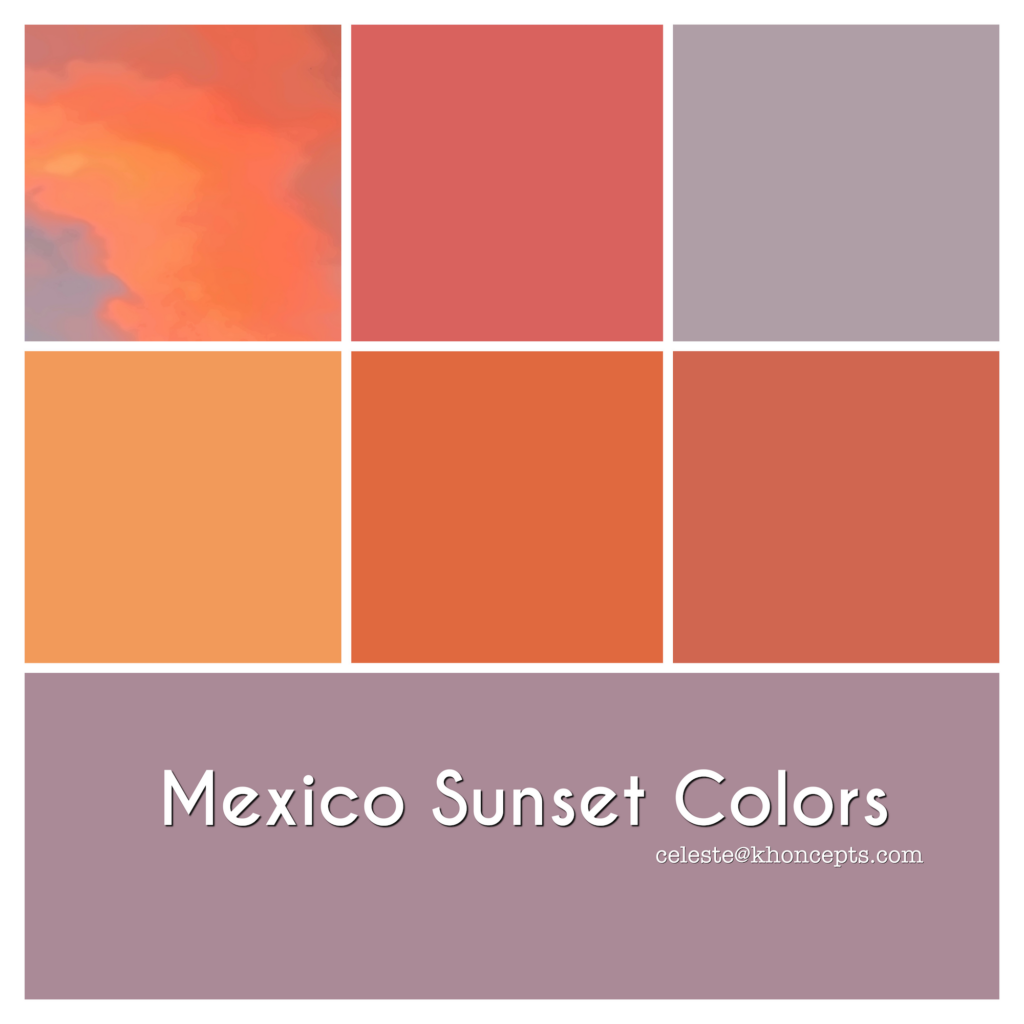 Gorgeous colors of a Mexican sunset