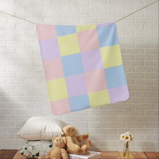 Unisex Baby blanket designed with pastel baby colors