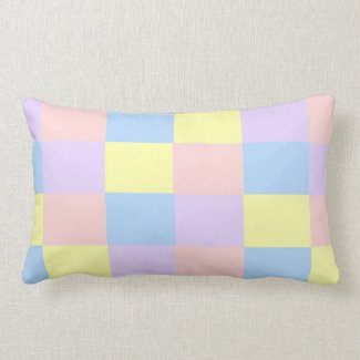 Pastel Spring Colors checkered pillow