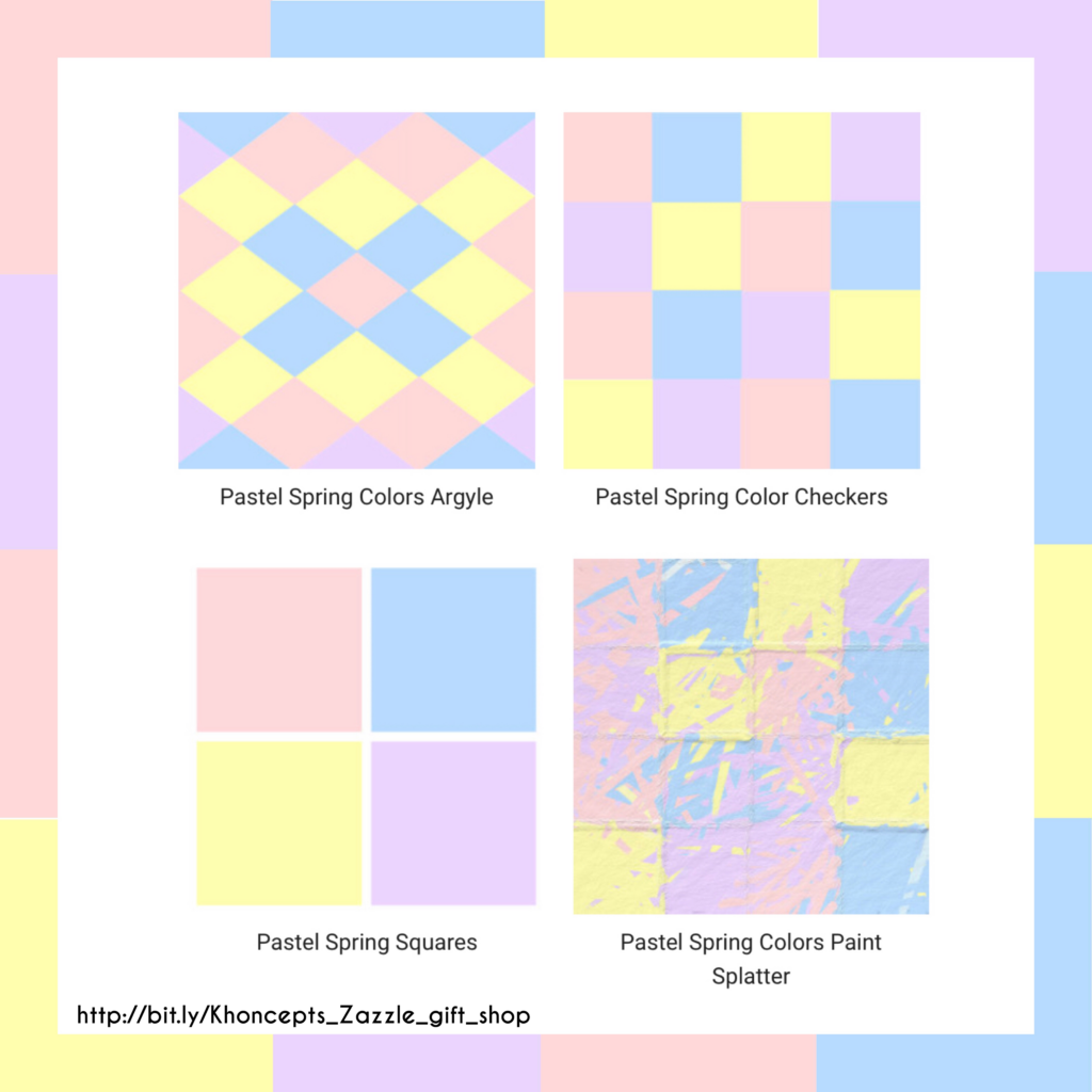 Pastel baby shower gift design patterns