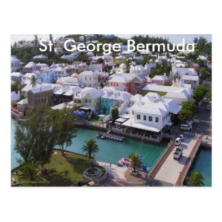 Travel postcard of Bermuda