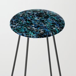 Teal and Black counter stool
