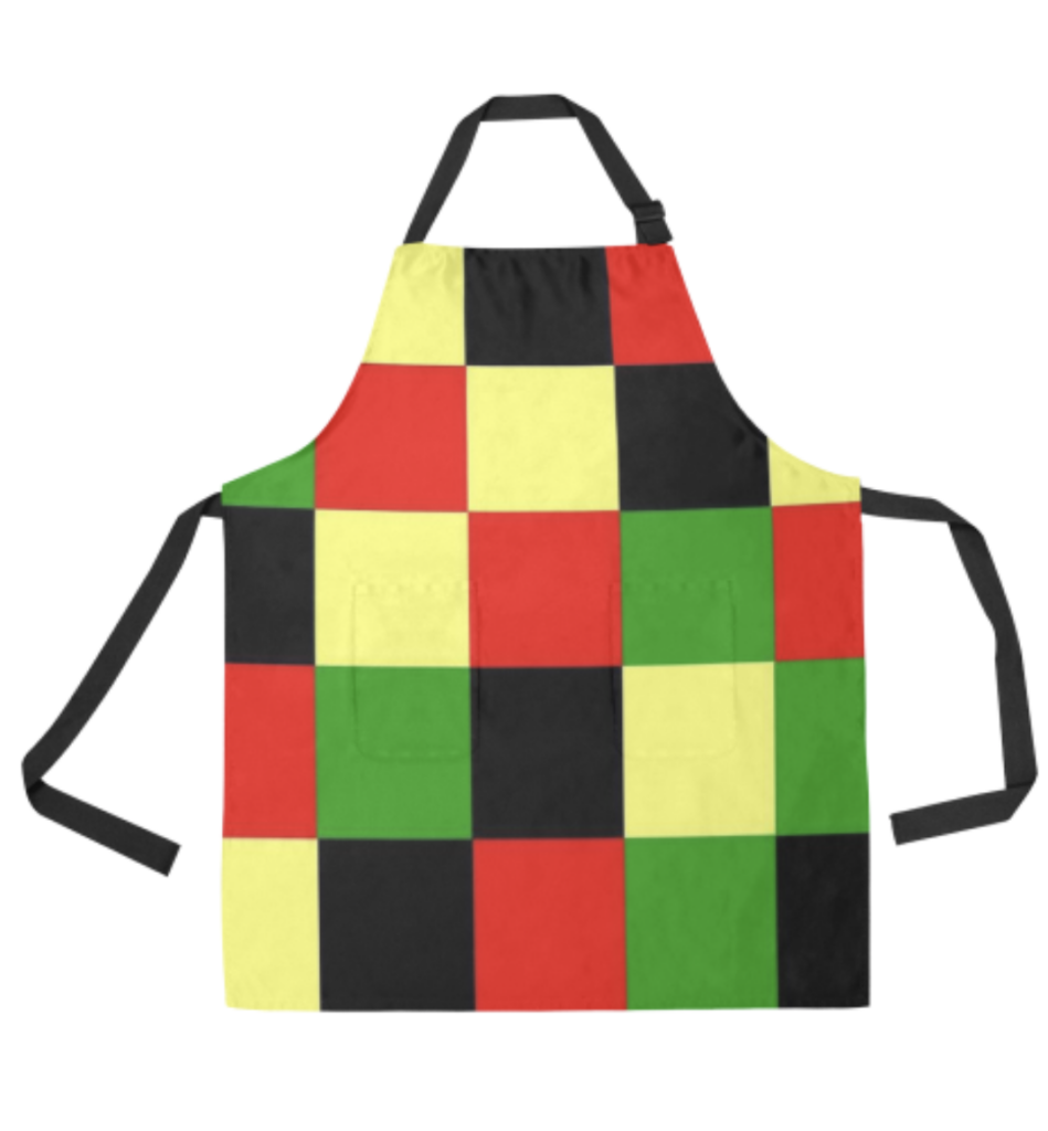 checkered bbq apron
