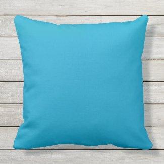 Jewel tone blue throw pillow