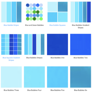 Shades of blue colors for home decor