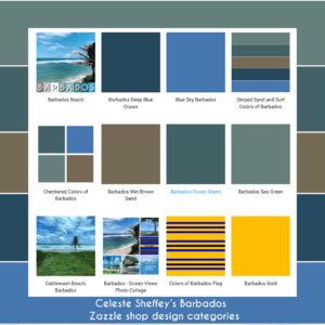 Barbados inspired home decor colors