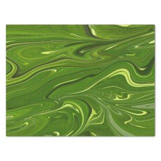 green swirls tissue paper