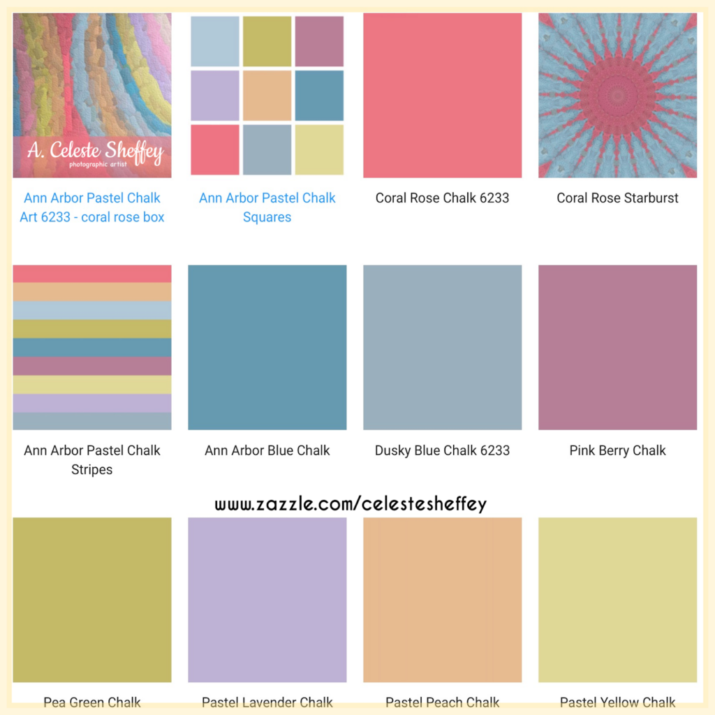 Pastel color chalk designed home decor