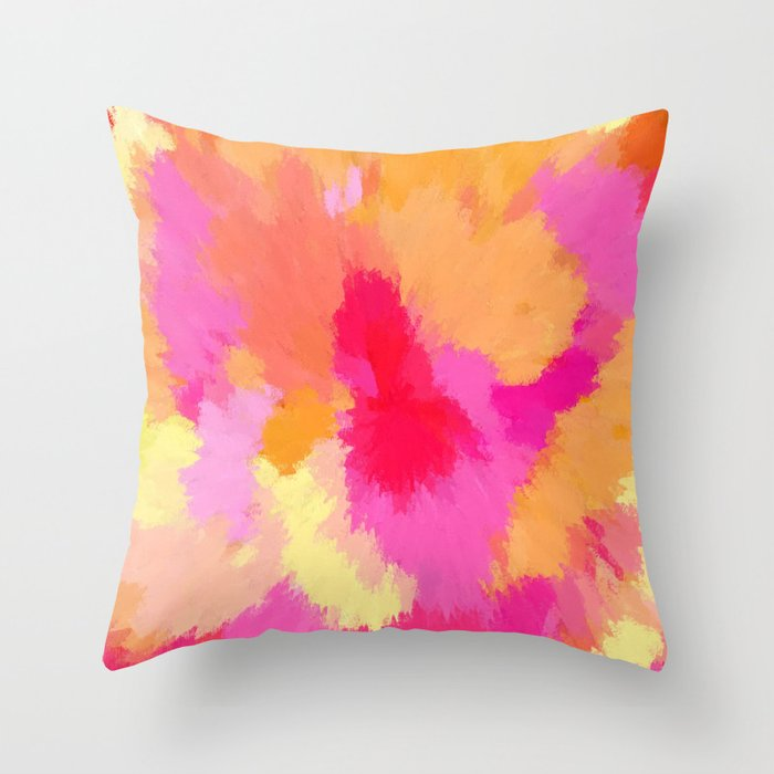 Artwork sold in August - Pink watercolor home decor throw pillow