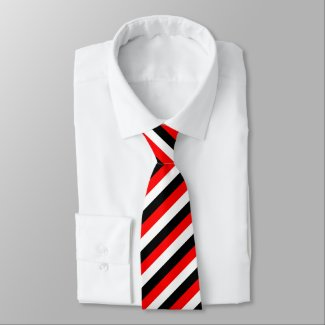 This image has an empty alt attribute; its file name is Black-White-and-Red-Stripes-necktie.jpg