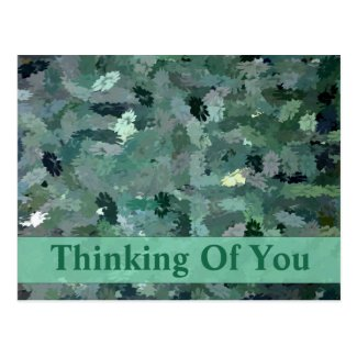 Green abstract printed all occasion postcard