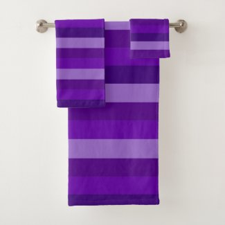 This image has an empty alt attribute; its file name is Shades-of-Purple-Stripes-bath-towel-set.jpg