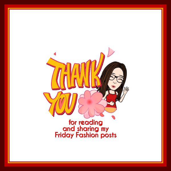 Fashion Friday blog posts thank you for reading