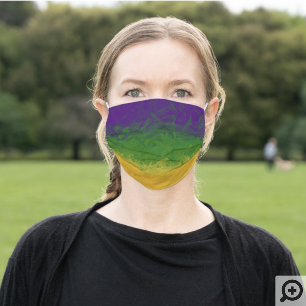 Mardi Gras cloth face mask