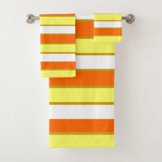 Home Decor striped bath towel set