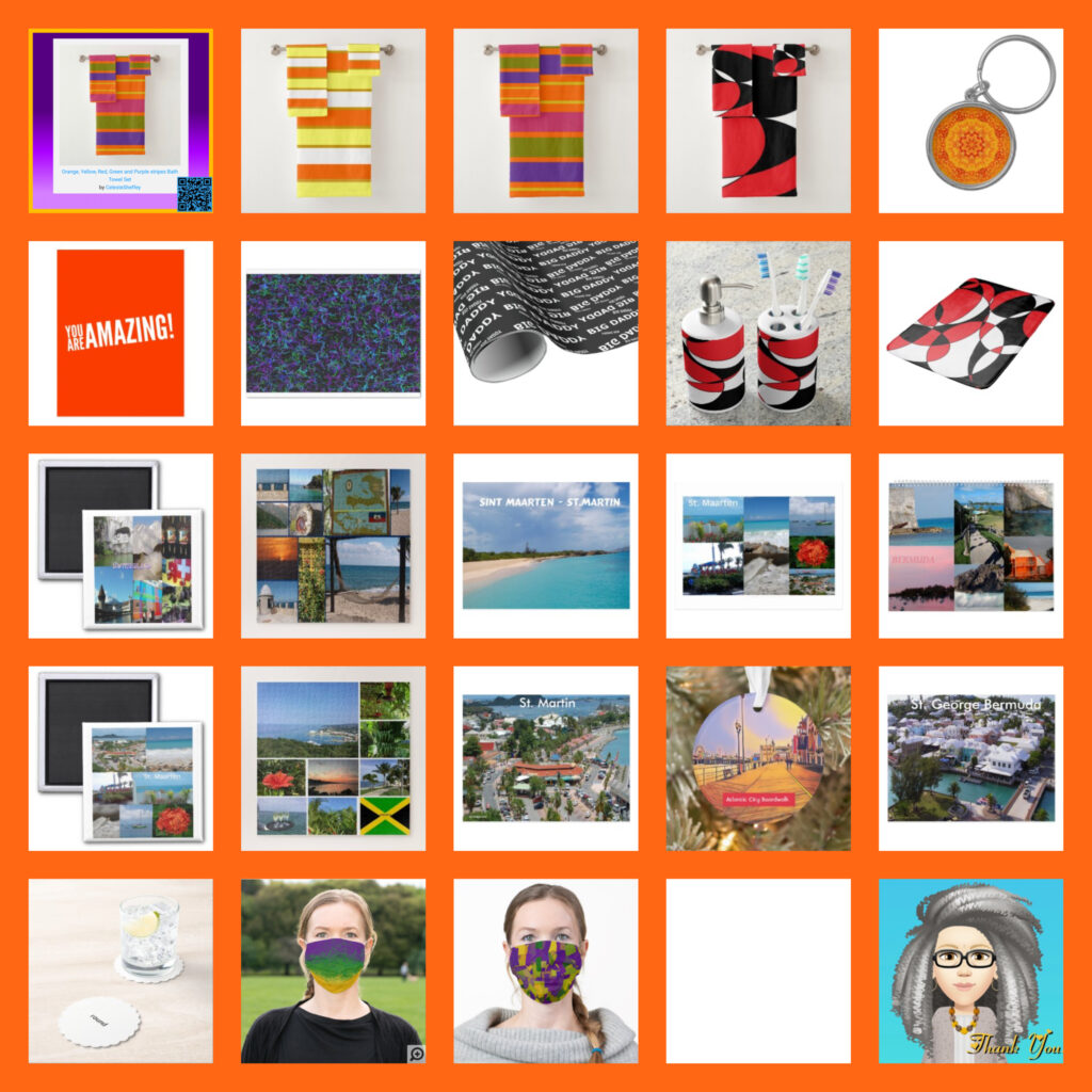 Thanking customers for purchasing products and gifts sold in October 2020 via Celeste's Zazzle shop