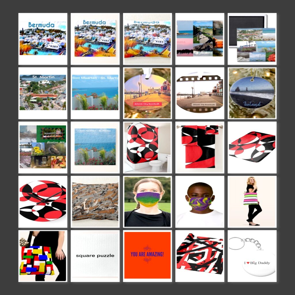 Art Items sold during November 2020 from Celeste's Zazzle shop