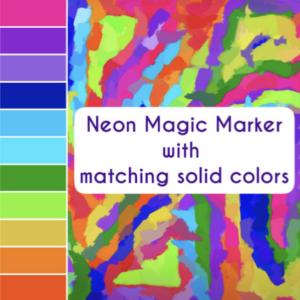 Home Decor designed using neon magic marker colors