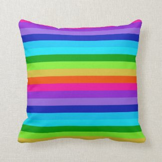 Colorful striped throw pillow designed to for the Magic Marker art collection