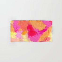 Pink, Orange and Yellow Watercolor bath towels