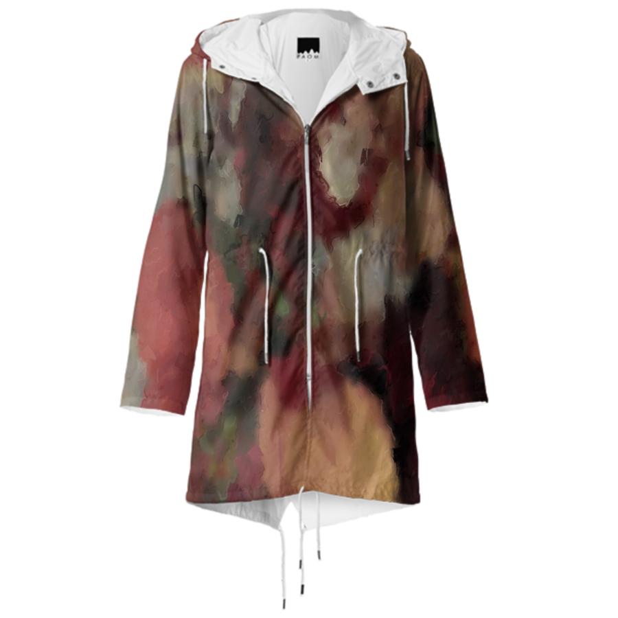 Autumn Watercolor Abstract raincoat