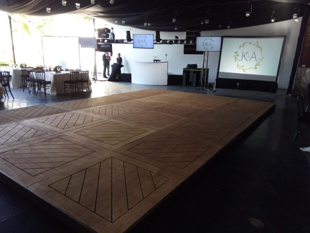 pista de baile madera