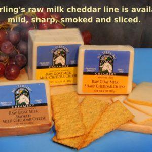 Raw Milk Goat Cheddars