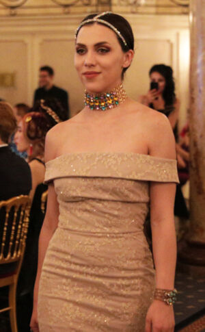 Wasee Jewels accessorized the Andres Aquino collection at the Global Short Film Awards Gala held at the Intercontinental Carlton Cannes, Cannes, France. Photo: Fernando Mendez.