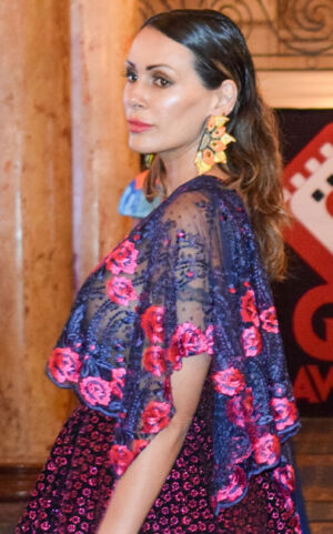 Wasee Jewels accessorized the Andres Aquino collection at the Global Short Film Awards Gala held at the Intercontinental Carlton Cannes, Cannes, France. Photo: Yamina Otmane Cherif.